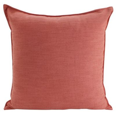 Linen Rust Cushion 55x55cm