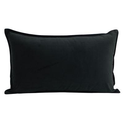 Velvet Cush Black 30x50cm