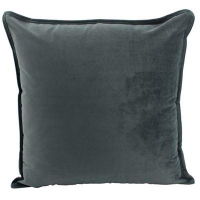 Velvet Cushion Smoke 45x45cm
