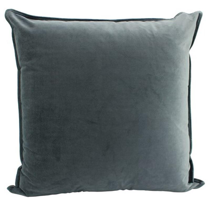 Velvet Cushion Smoke 55x55cm