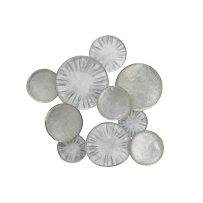 Circle Metal Wall Art Silver 90x88