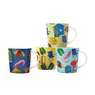Australian Summer Mug S/4 330Ml Gb