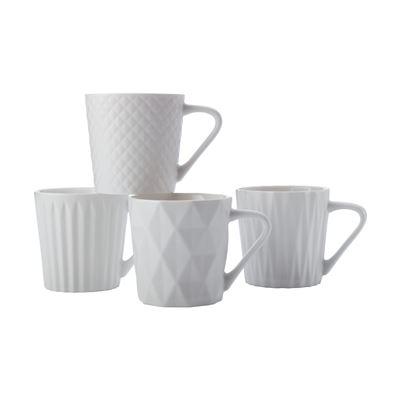 Latitude Mug S/4 400Ml Matte Wht Gb