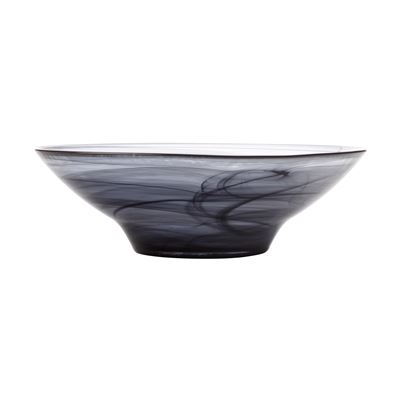 Marblesque Bowl 26Cm Black