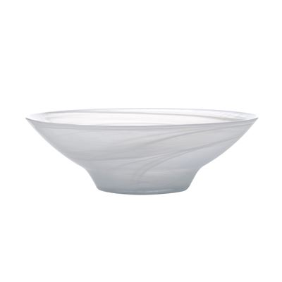 Marblesque Bowl 26Cm White