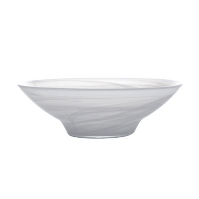 Marblesque Bowl 32Cm White