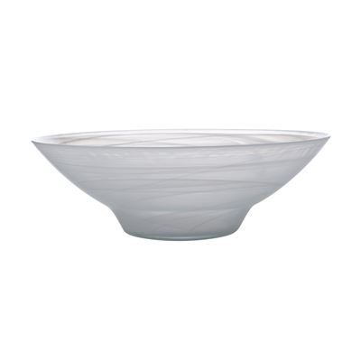 Marblesque Bowl 37Cm White