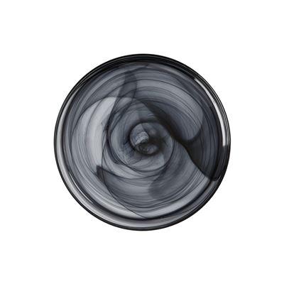Marblesque Plate 34Cm Black