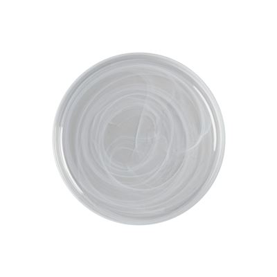 Marblesque Plate 34Cm White