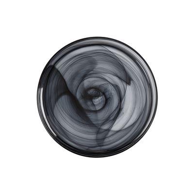 Marblesque Plate 39Cm Black