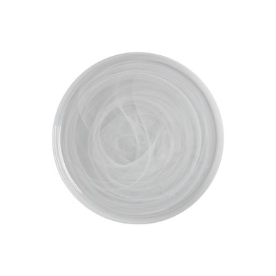 Marblesque Plate 39Cm White