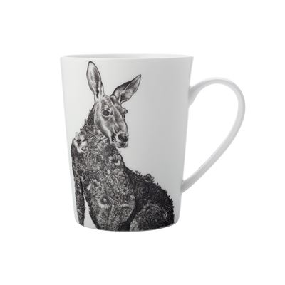 Marini Mug 450Ml Tall Red Kangaroo