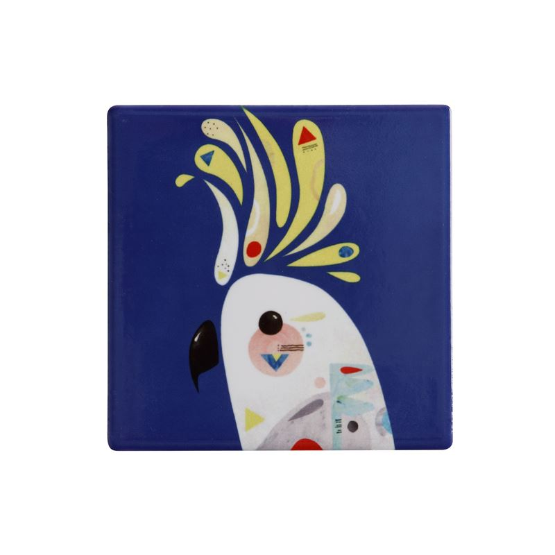 Pete Cromer Ceramic Coaster 9.5cm Cockatoo