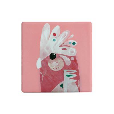 Pete Cromer Ceramic Square Tile Coaster Galah