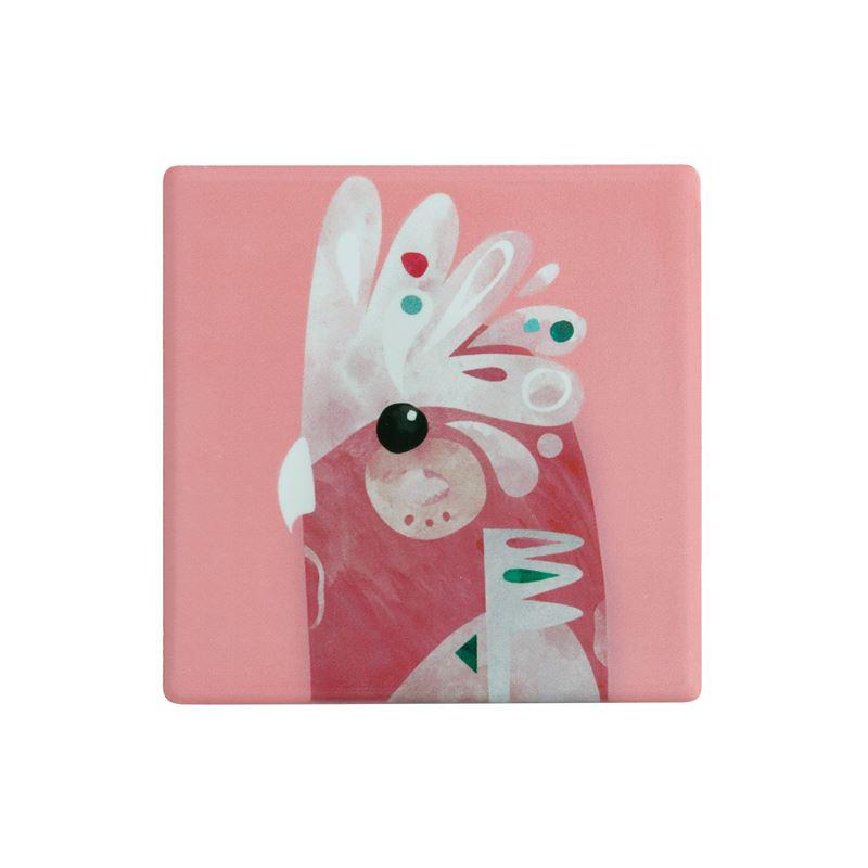 Pete Cromer Ceramic Coaster 9.5cm Galah