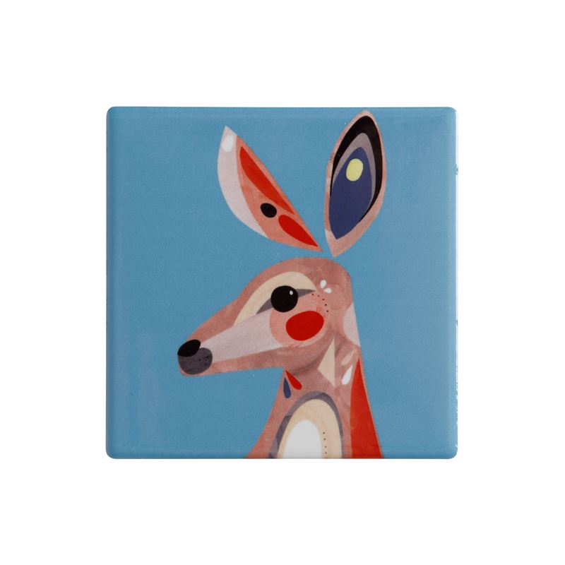 Pete Cromer Ceramic Coaster 9.5cm Kangaroo