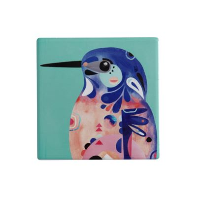 Pete Cromer Ceramic Coaster 9.5cm Kingfisher