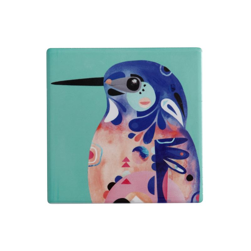 Pete Cromer Ceramic Coaster 9.5cm Kingfisher