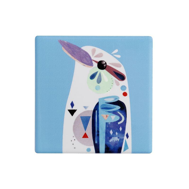 Pete Cromer Ceramic Coaster 9.5cm Kookaburra