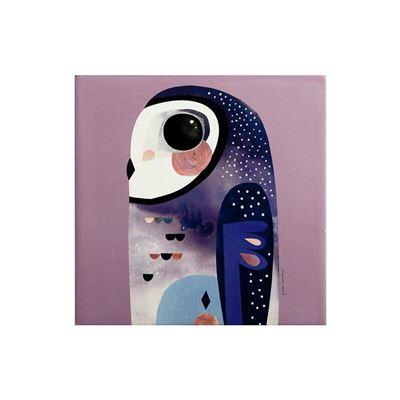 Pete Cromer Ceramic Square Trivet 20cm Owl