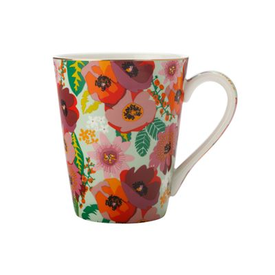 Teas & C's Glastonbury Mug 360Ml Poppy Aqua