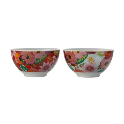Teas & C's Glastonbury Set of 2 Bowl 12.5Cm Poppy