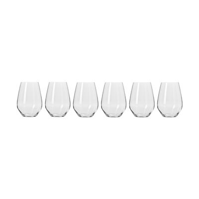 Harmony Stemless Wine Glasses 540Ml 6Pc