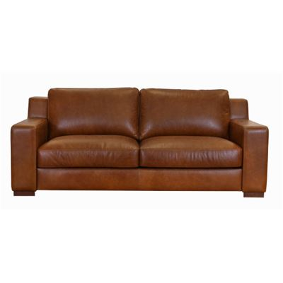 Charleston 3 Seater Sofa Tan Rawhide
