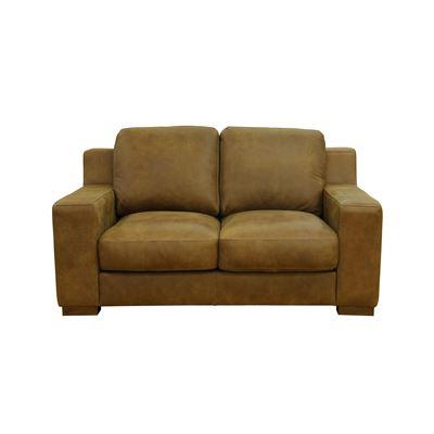 Charleston 2 Seater Sofa Tan Rawhide