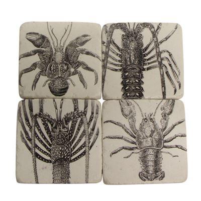 Set of 4 Crayfish Coasters