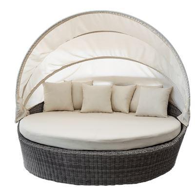 Etty Bay Round Sofa Grey