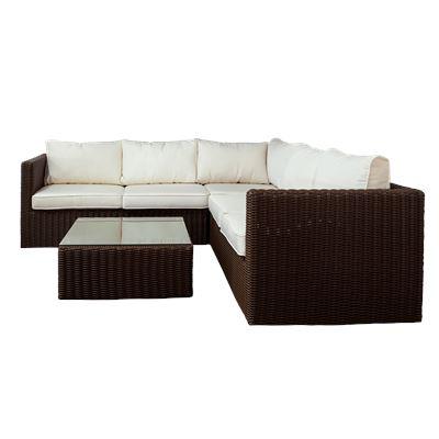 Ellis Beach Sofa Set Brown