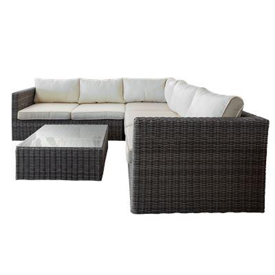 Ellis Beach Sofa Set Grey
