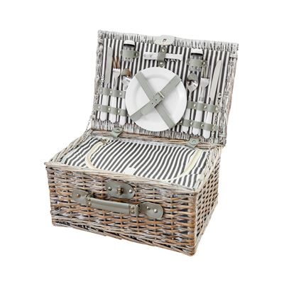 Willow Picnic Basket 2 Person Grey