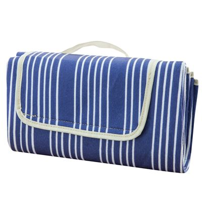 Painters Stripe Picnic Rug Navy