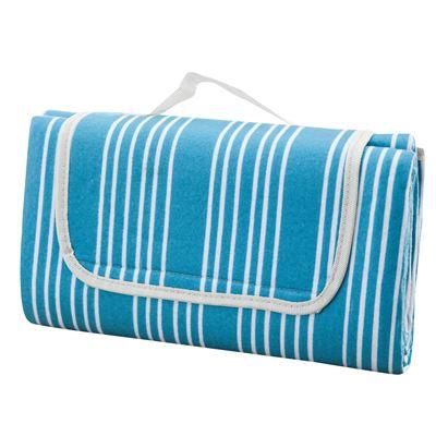 Painters Stripe Picnic Rug Aqua