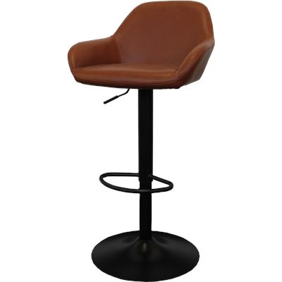 Harvey Bar Stool W/Arms Gas Lift English Tan