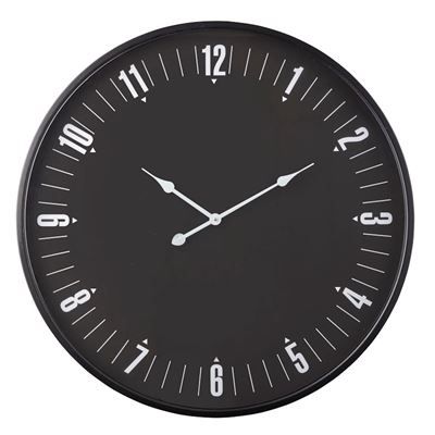 Harrison Wall Clock  80cm Black