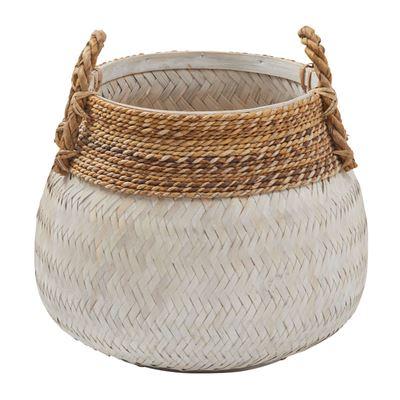 Bambu Basket 47x47cm White