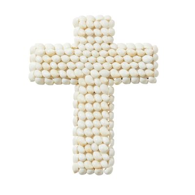 Atlantic Cross Sculpt 25cm Whi