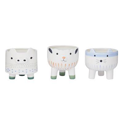 Happy Animal Pots - 3 Asst