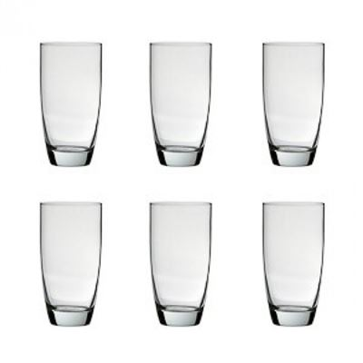 Salut 6 Set Highball Glasses 500ml