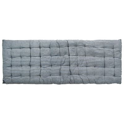 Quilted Benchpad 120x45cm - Navy Stripe
