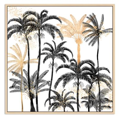 Palm Forest Black 100cm x 100cm