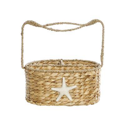 Genoa Natural Basket Weave Bottle Caddy