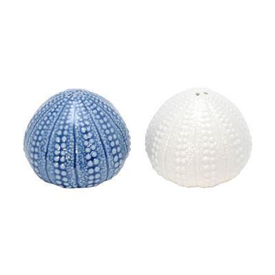 Iggy Ceramic Blue White Urchin S&P Pair