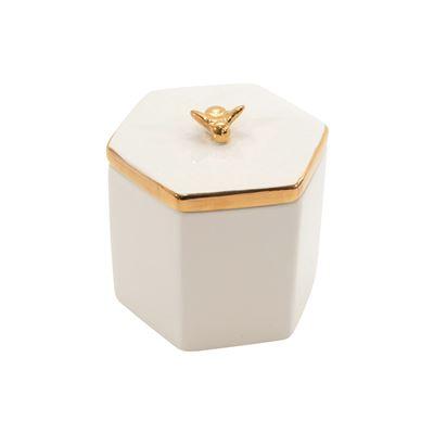 Bea Ceramic Hex Trinket Box Lge