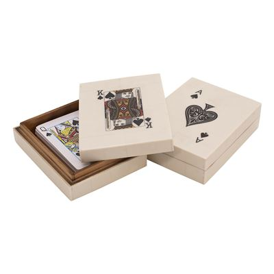 Toby Resin Card Box King Ace White