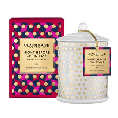 Glasshouse 350g Night Before Christmas Candle