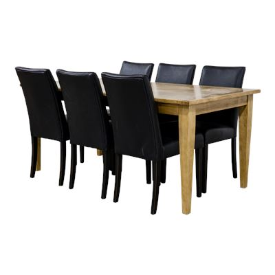 Colmar Table 2.1 + 6 Swayback Chairs